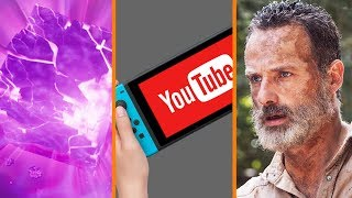 Fortnite's Cube COLLAPSES + YouTube Coming to Switch? + Multiple Walking Dead Movies In The Works