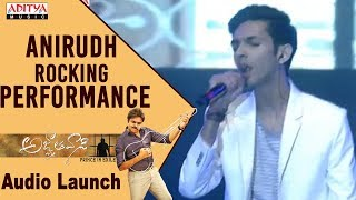 Anirudh Rocking Performance @ Agnyaathavaasi Audio Launch | Pawan Kalyan, Keerthy Suresh | Trivikram