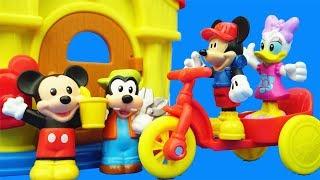 米老鼠去接米妮下班小故事,米奇妙妙屋兒童過家家玩具