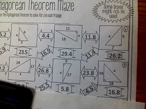 WS Pythagorean Theorem Maze