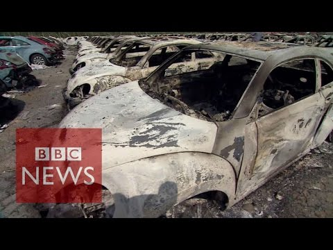 China explosions: Inside Tianjin blast zone - BBC News