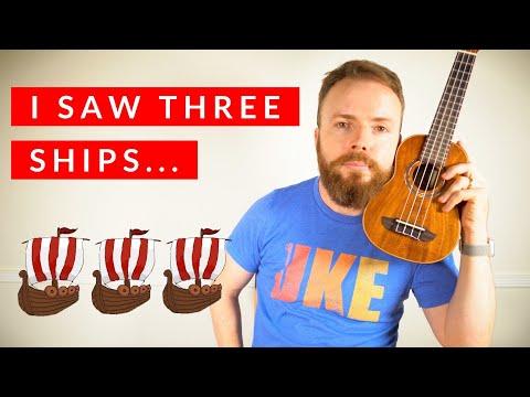 I Saw Three Ships - Christmas Ukulele Tutorial!