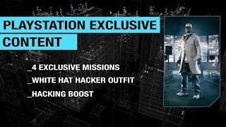 Watch Dogs PS3 PS4 Trailer Exclusive content White Hat Hacker Outfit Hacking Boost