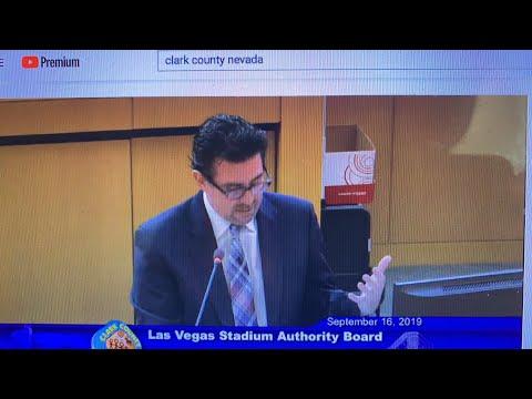 Las Vegas Stadium Authority September 16 2019 Meeting Livestream