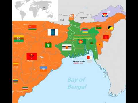 Map of Bangladesh in East Indian Region - PARTITION OF INDIA
