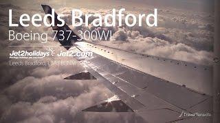 Beautiful Sunrise: Jet2 737-300(WL)   Leeds Bradford Take Off