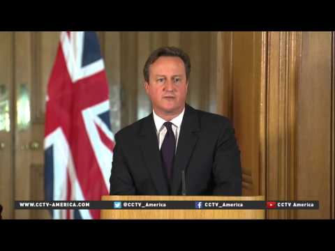 British PM David Cameron and Chinese President Xi Jinping holds joint news conference