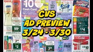 CVS AD PREVIEW 3/24 - 3/30 |. MONEYMAKER TOOTHPASTE, CHEAP HAIR CARE & CASH CARD! thumbnail