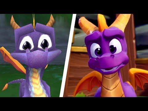 Spyro Reignited Trilogy - All Intros Comparison (PS4 vs Original)
