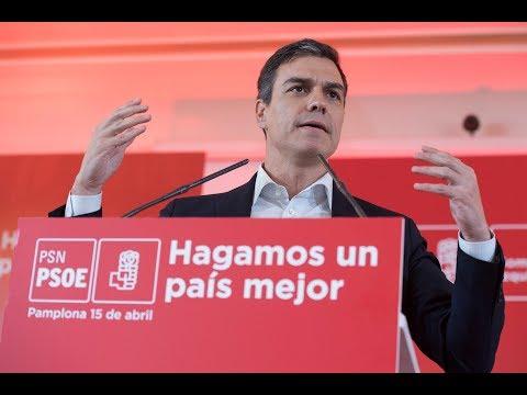 Acta de Pedro Sánchez en Pamplona