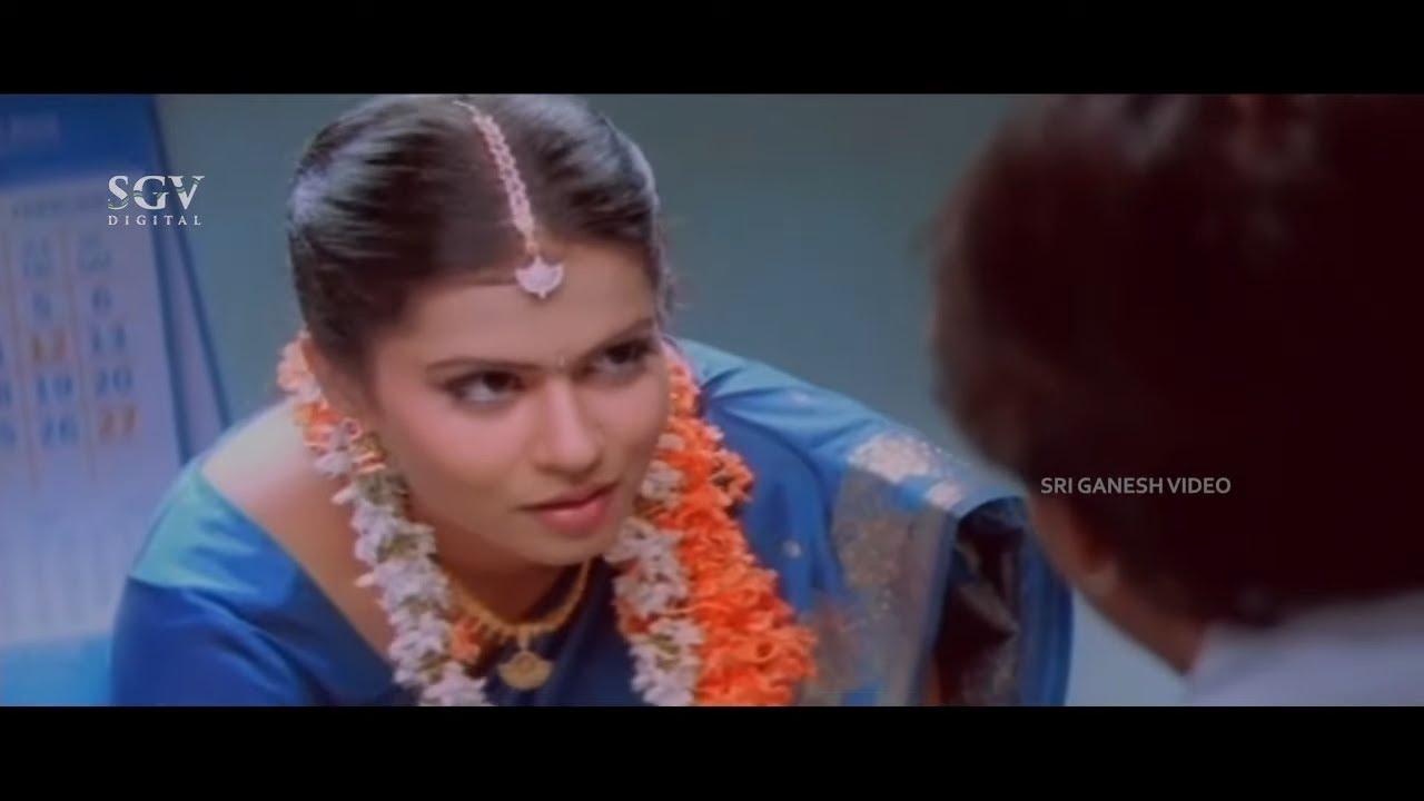 Duniya Vijay Shy When He Comes to See Bride | Kari Chirathe Kannada Movie Scene | Sharmila Mandre