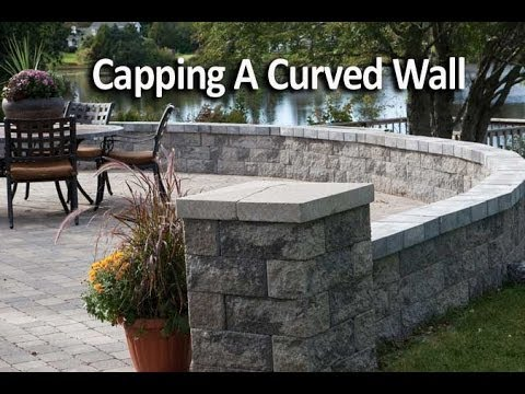 How To Cap A Curved Patio Wall Youtube