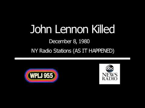 John Lennon December 8 1980  - NY Radio AS IT HAPPENED!