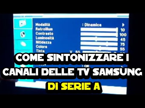 sintonizzare canali samsung serie a - youtube