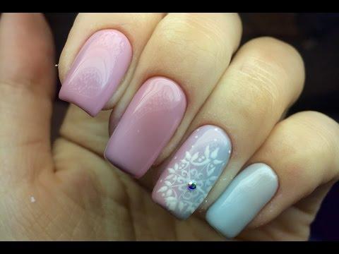 Новогодний дизайн ногтей. Снежинка. Маникюр на Новый Год🎄🎄❄️❄️