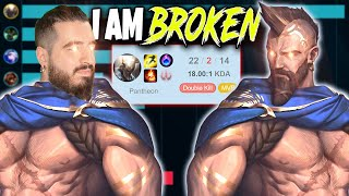 Riot created this champion for me and I am the MOST BROKEN 🔥 LoL Top Lane Pantheon Build Gameplay