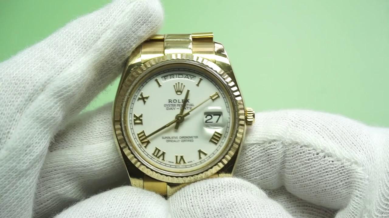 Ongekend Gold Rolex Oyster Replica - ETA 2834 Automatic - YouTube RZ-55