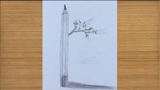 Drawing A Bird Sitting On A Tree