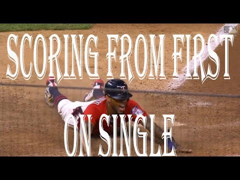 MLB Scoring From First On Single ᴴᴰ