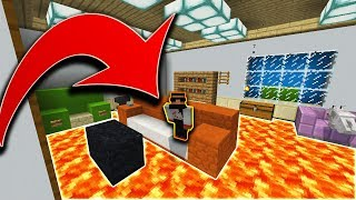 DO NOT TOUCH THE FLOOR! - THE FLOOR IS LAVA CHALLENGE IN  MINECRAFT POCKET EDITION