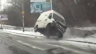 Autounfall Russland #5 Januar 2017