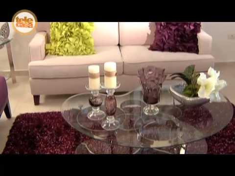 El xito del color morado en la sala youtube - Cojines decorativos para sofas ...