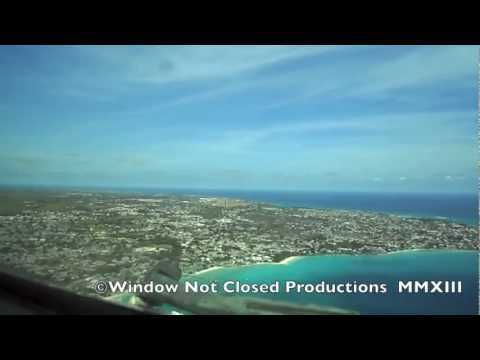 Approach and Landing to Barbados Grantley Adams International.  NOT Flight Simulator