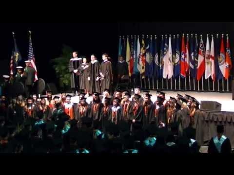 Presentation of Colors, National Anthem,Pledge of Allegiance, Oviedo High School Graduation 2013