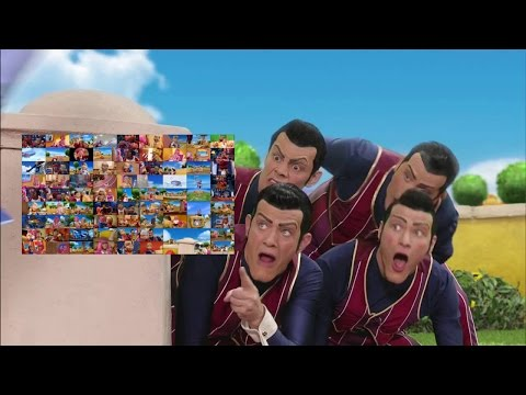 We Are Number One but it's actually just every episode of Lazy Town playing concurrently