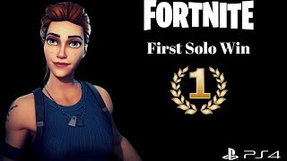 FORTNITE: Battle Royale First Solo Win! [Controversial?]