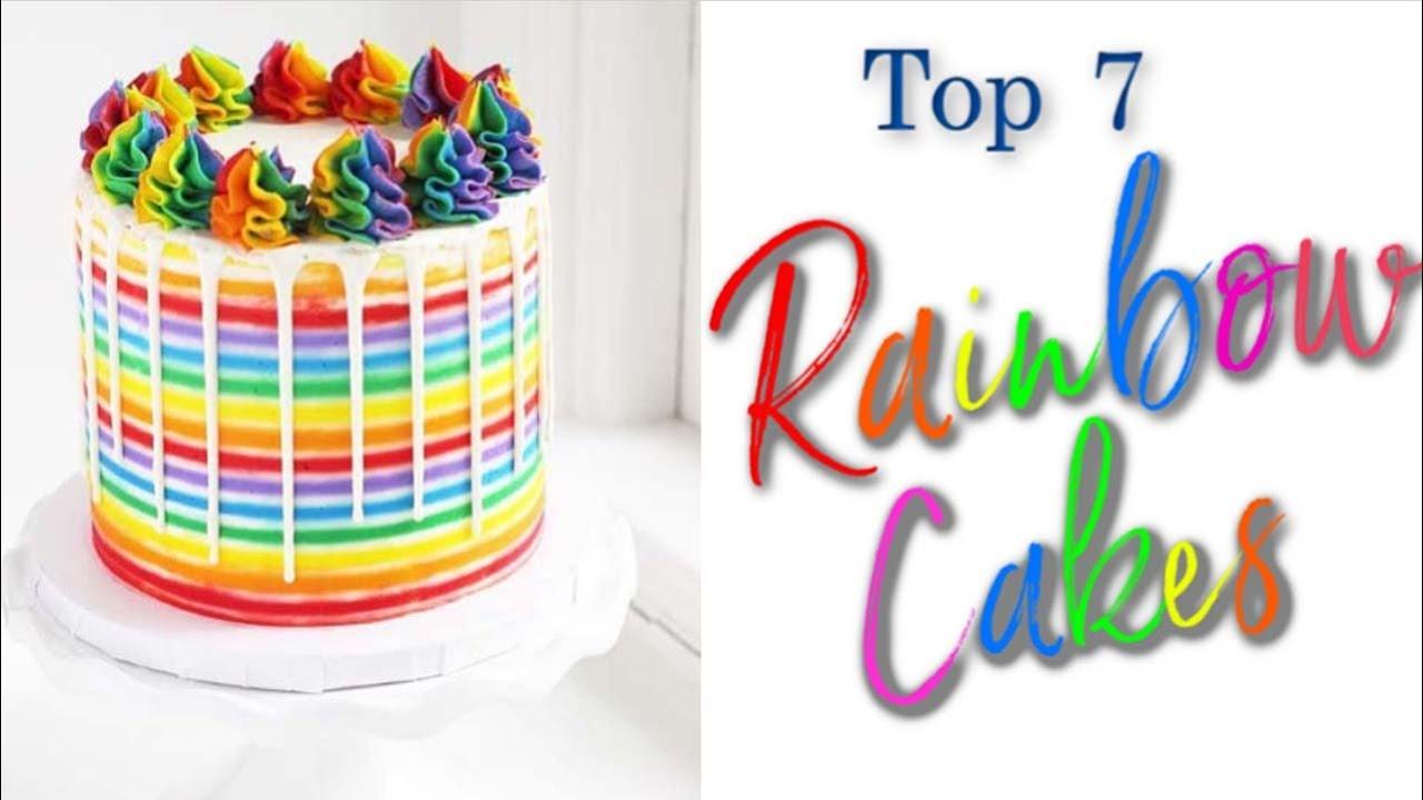 Too 6 Rainbow cake compilation - YouTube