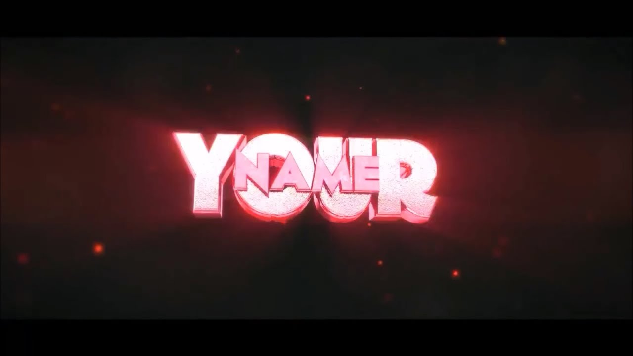 FREE After Effects & Cinema 4D Intro Template: Simple RED 3D Text ...