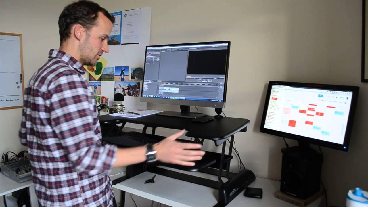 Varidesk Standing Desk Review And Setup Youtube