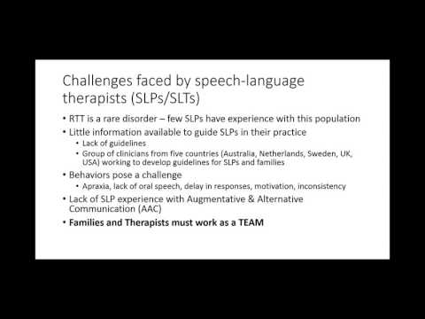The Role of Speech-Language Therapy in Rett Syndrome