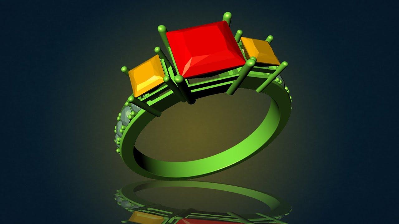 Vẽ chiếc nhẫn nữ bằng phần mềm 3D matrix || Design Channel