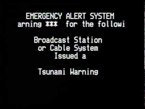 Eas Tsunami Warning 3 11 2011 アメリカの津波警報 Doovi