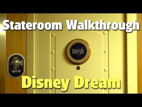 Deluxe Ocean View Stateroom with Verandah Walkthrough with Craig   Disney Dream