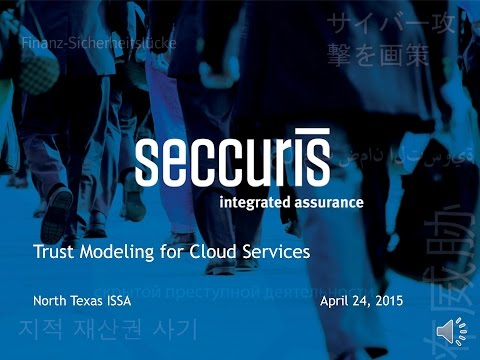 Trust Modeling for Cloud Services