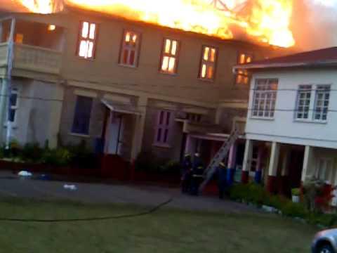 Mount St Joseph School on fire. Mandeville Manchester part 6