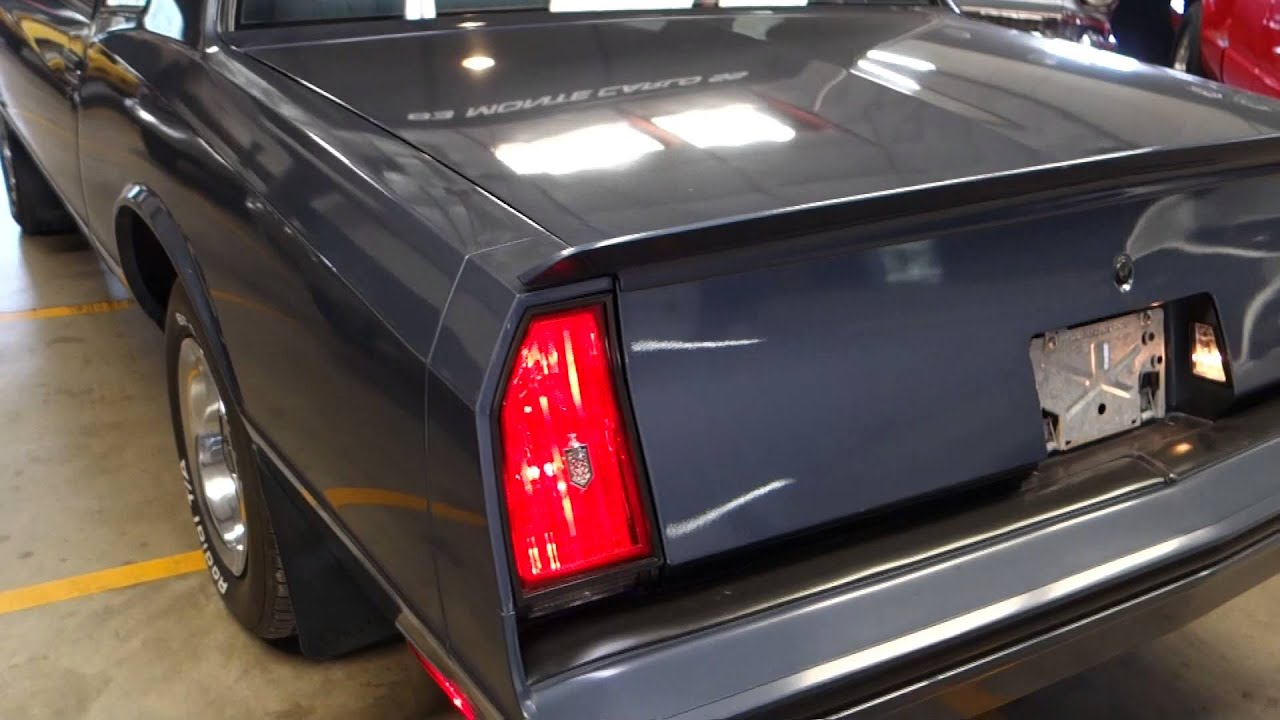 Chevy Monte Carlo SS Original Mile Classic Car YouTube - Cool cars 1983