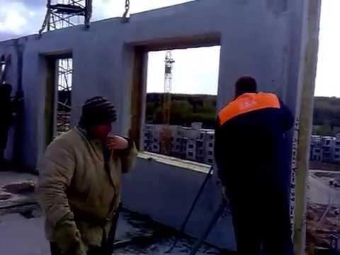 Монтаж ж/б панели Витебский ДСК
