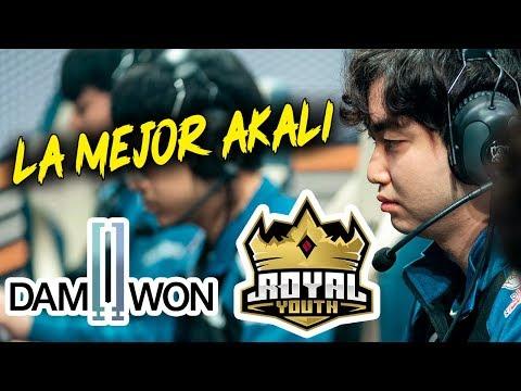 LA MEJOR AKALI DE KOREA || DAMWON VS ROYAL || KOREA QUIERE SALIR INVICTO DEL PLAYIN!