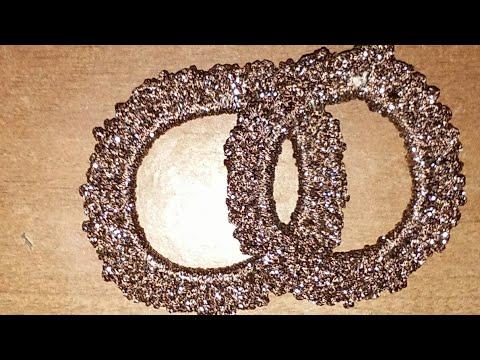 How to make crochet thread hair rubber band.Hair Scrunchi in hindi.indian crochet pattern