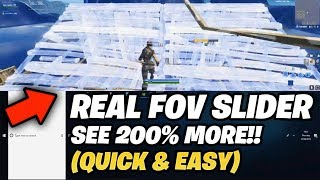*WORKING* FOV Slider in Fortnite (Tutorial)