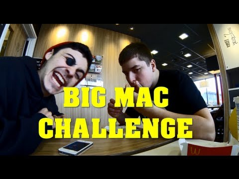 Big Mac challenge in 2 Mouthfuls (Not Bites) HD