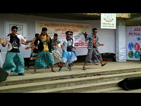 FLASH-MOB BY JAGANNATH UNIVERSITY STUDENTS ON OPENING CEREMONY OF FOOTBALL TOURNAMENT