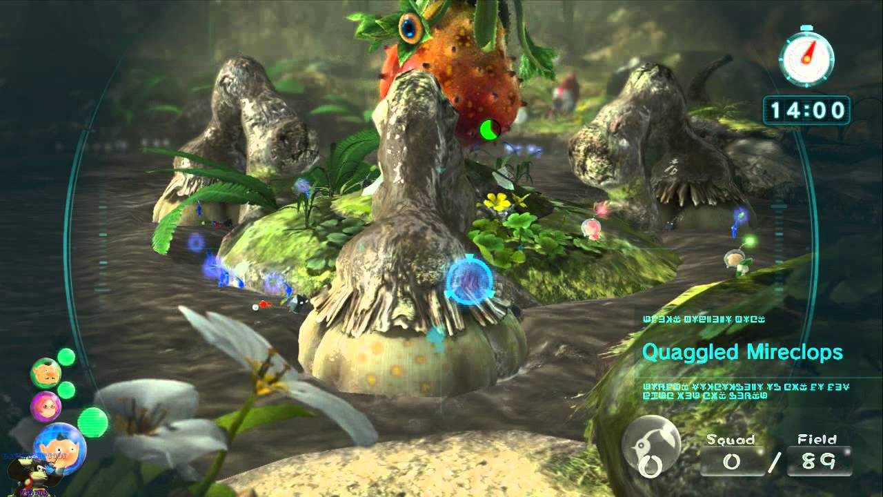 Pikmin 3 Defeat Bosses Stage 5 Quaggled Mireclops 2 47