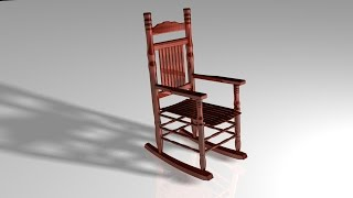 Maya 2014 Tutorial : How To Model A Rocking Chair ( Full Tutorial )