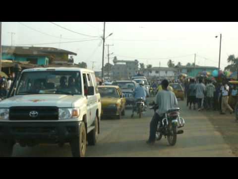 Monrovia Liberia market drive