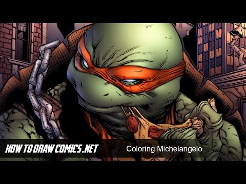 How to Draw Comics   Michelangelo Colors